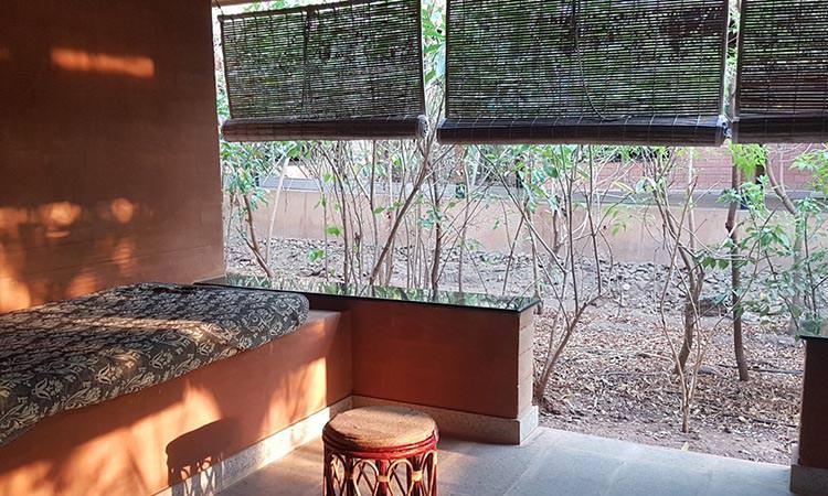 Chaque chambre a sa propre terrasse.